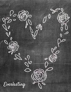 """Everlasting"" Chalkboard Printable"
