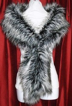 Wraps and Jackets 105472: Luxurious Siberian Wolf Faux Fake Fur Scarf Stole Wrap Casual Bridal Nwt ! -> BUY IT NOW ONLY: $38.95 on eBay!