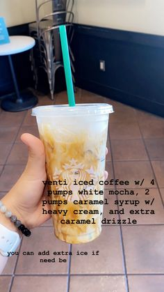 Starbucks Hacks, Bebidas Do Starbucks, Healthy Starbucks Drinks, Starbucks Secret Menu Drinks, Starbucks Iced Coffee, Yummy Drinks, Healthy Drinks, Starbucks Caramel Drinks, Coffee Drink Recipes
