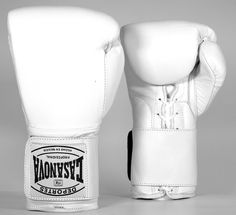 Original Deportes Casanova Sparring/Training Hybrid Boxing Gloves w/Hook & Loop - White