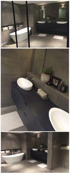 Bathroom Showrooms Holland Mi soluzione #arredamento #bagno in #pietra naturale grigio venato
