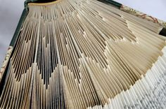 Amazing folded book pages -some with free patterns!