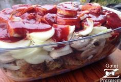 Pieczona karkówka z pieczarkami! My Favorite Food, Favorite Recipes, Sandwiches, Good Food, Yummy Food, Main Menu, French Toast Bake, Polish Recipes, Food To Make