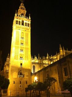 La Giralda de Sevilla vista de noche...    http://www.quenosvamos.com/sevilla