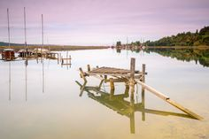 In a quiet harbor with ong exposure and big stopper