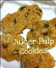 Juicer pulp cookies made with pineapple pulp, apple pulp and raisins. super yum. Click the pin for oodles of pulp recipes.