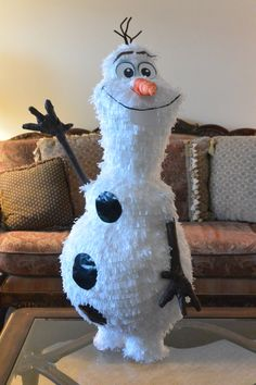 Frozen Olaf the Snowman Disney Frozen Custom hand made Piñata disney frozen party decoration on Etsy, $78.00