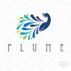 Image result for peacock and peahen minimalist design vector