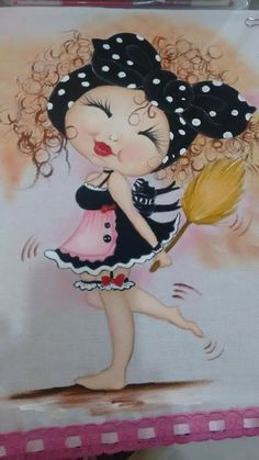 Cristina Fona's media statistics and analytics Pictures To Paint, Cute Pictures, Illustration Mignonne, Decoupage Vintage, Angel Art, Digi Stamps, Illustrations, Big Eyes, Fabric Painting