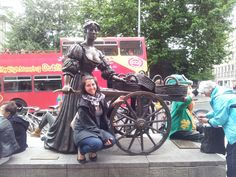 "~ Molly Malone ~ In Dublin's fair city, Where the girls are so pretty, I first set my eyes on sweet Molly Malone, As she wheeled her wheel-barrow, Through streets broad and narrow, Crying, ""Cockles and mussels, alive, alive, oh!"" ""Alive, alive, oh, Alive, alive, oh,"" Crying ""Cockles and mussels, alive, alive, oh"".  #ireland #dublin #interchange #mollymalone"