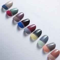 . イロイロコンビネーション. . . #nails #naildesign #autumn #colorful #combination