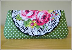 Clutch  Wallet  Snap Closure  Paula Prass  Summer by SweetPeaTotes, $20.00