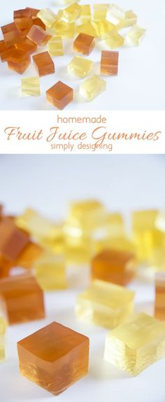 Homemade Fruit Juice Gummies - simple to make and such a fun treat - Dessert/cake/candy - Best Fruit Juice, Fruit Juice Recipes, Candy Recipes, Baby Food Recipes, Snack Recipes, Paleo Recipes, Homemade Gummies, Homemade Candies, Fruit Appetizers