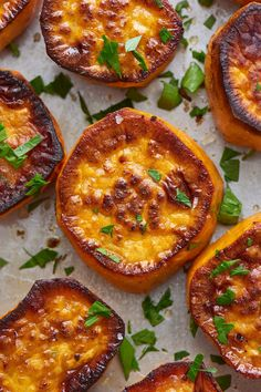 Recipe: Butter-Roasted Sweet Potatoes — Quick and Easy Weeknight Sides // serve with protein Potato Sides, Potato Side Dishes, Veggie Dishes, Food Dishes, Pork Chop Side Dishes, Side Dishes Easy, Main Dishes, Side Dish Recipes, Veggie Recipes
