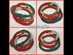 70. DERS DOLAMALI BİLEKLİK - YouTube Beaded Jewelry, Beaded Bracelets, Jewellery, Crochet Diagram, Beading Tutorials, Seed Beads, Crochet Earrings, Make It Yourself, Youtube