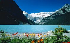Lake Louise on a clear spring day -- Alberta, Canada -- Image 1