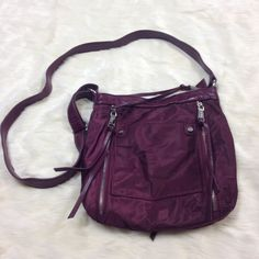 Purple Co-Lab Nylon Crossbody Bag Medium