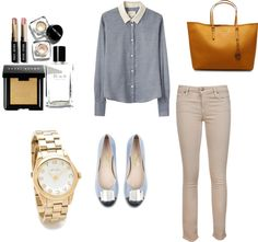 Working in the summer, created by amandavmulyana on Polyvore