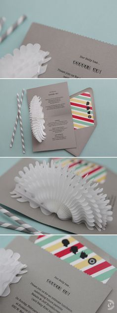 Pop up invitations
