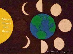 Munchkin and Bean: Moon Phases Felt Board