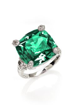A touch of sparkle in a lovely green hue.