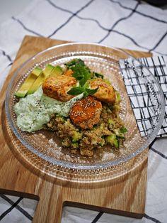 oman elämänsä fitnesschef, lohi, kalapullat, quinoa, avokadodippi, resepti - White Trash Disease | Lily.fi