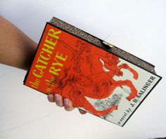 Book Clutch Purse- Catcher in the Rye (With compact pocket mirror). $165.00, via Etsy.