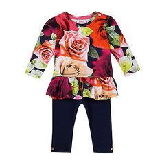 75e640c83dd13 Baker by Ted Baker Baby girls' floral print tunic and leggings set- |  Debenhams