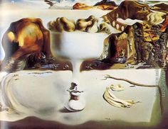 Salvador Dali : Apparition of Face and Fruit Dish on a Beach