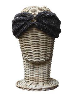 Turbante de lana gris verdoso - Hippie, boho-chic, ethnic style. Fashion, Casual Style. Rosebell - wool turban - winter turban