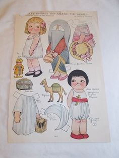 Vintage Paper Doll Dolly Dingle's Trip Around The World Pictorial Review 1917 | eBay by stacie