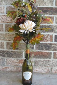 Floral wine decor