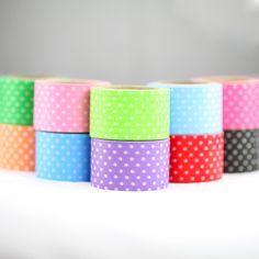 Super cute wide washi tape with polka dots.30mmx10m  g: dark blue