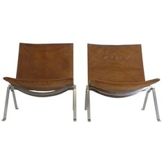 Pair of Poul Kjaerholm PK-22 Chairs | From a unique collection of antique and modern chairs at http://www.1stdibs.com/furniture/seating/chairs/