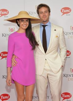 Armie Hammer and his wife, Elizabeth Chambers, didn't let the rain ruin their Saturday at the races - the Kentucky Derby 2013