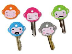 cubre llaves monkeys Monkey, Hello Kitty, Diy, Fictional Characters, Lovers, Cover, Objects, Accessories, Hipster Stuff