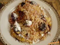 nejjednodušší rýže se švestkami Oatmeal, Grains, Breakfast, Food, The Oatmeal, Morning Coffee, Rolled Oats, Essen, Meals