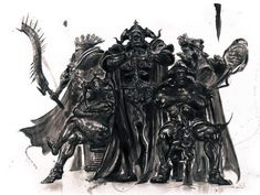 The Judges #ConceptArt from #FinalFantasyXII by #YoshitakaAmano