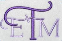 Early Years Embroidery Font #175