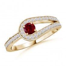 Angara 7mm Ruby Criss Cross Ring in White Gold mvWKZiuseR