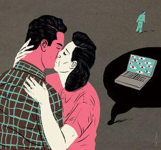 Amor en tiempo de redes sociales. Ivelis Ruiz Ilustración: Paul Blow