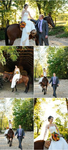 Rustic Fall Wedding could be led in instead of riding by myself...hmmm idk i'd rather ride in alone