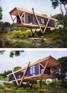 Small Modular House Plans Shipping Container Homes – Shipping Container US Building A Container Home, Container Buildings, Container Architecture, Container House Plans, Sustainable Architecture, Modern Architecture, Tiny House Cabin, Tiny House Design, Modern House Design