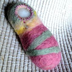 Felted Rock Doll