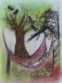 Black birds Pastels, Watercolor Tattoo, Birds, Painting, Black, Art, Craft Art, Black People, Bird