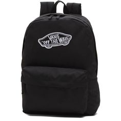 Vans Realm Backpack (£27) ❤ liked on Polyvore featuring bags, backpacks, backpack, accessories, vans, black, day pack backpack, vans backpacks, pocket backpack and pocket bag
