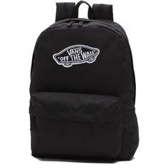Vans Realm Backpack (2.060 RUB) ❤ liked on Polyvore featuring bags, backpacks, black, vans bags, vans rucksack, backpack bags, rucksack bags and pocket bag