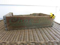 Vintage Choc ola bottle wood shipping by OhioWoodandIronWorks