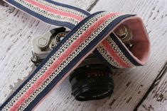 Camera Strap dSLR Linen Lace and Velvet Cute by turtletaylor