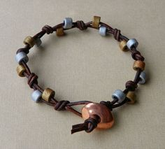 Beaded Leather Bracelet by Erin Siegel Jewelry, via Flickr